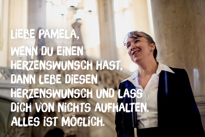 """Brief von Pamela an ihr """"jüngeres Ich"""""""