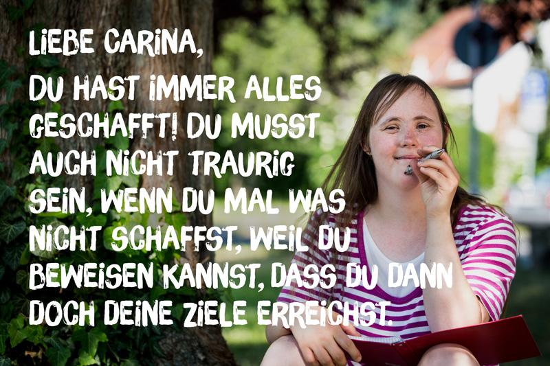 """Brief von Carina an ihr """"jüngeres Ich"""""""