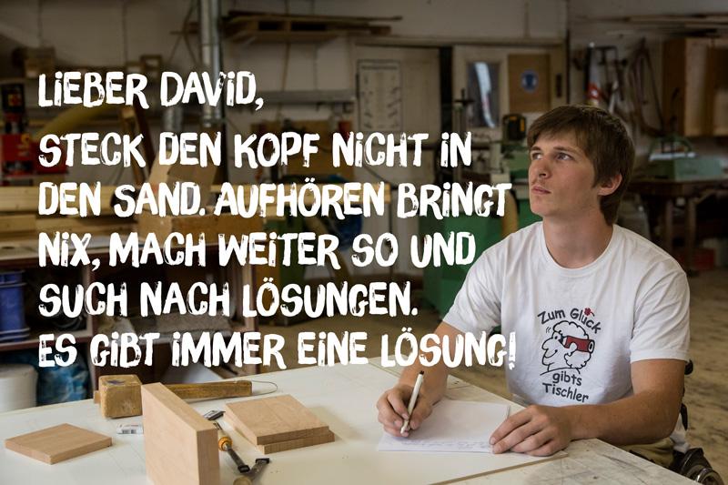 """Brief von David Völzmann an sein """"jüngeres Ich"""""""