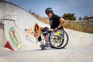 David Lebuser im Skatepark