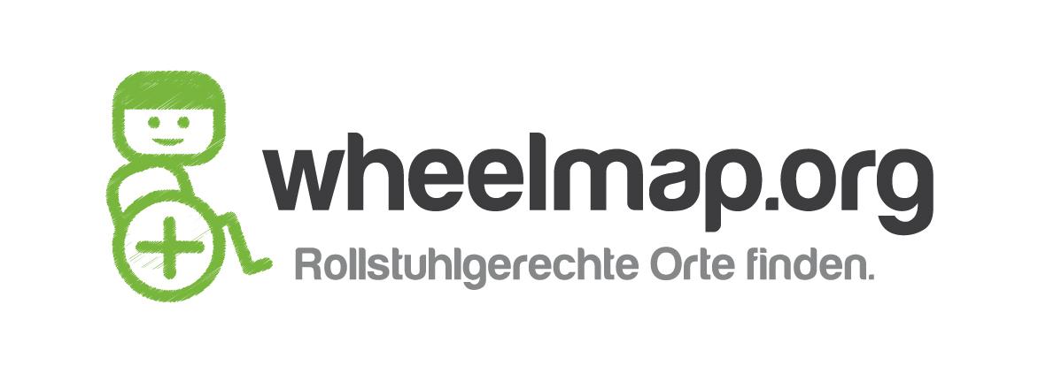 Logo von Wheelmap.org – Rollstuhlgerechte Orte finden