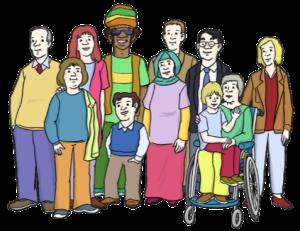 Bild: Lebenshilfe für Menschen mit geistiger Behinderung Bremen e.V., Illustrator Stefan Albers, Atelier Fleetinsel, 2013